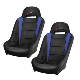 DragonFire Racing HighBack GT Seat Black/Blue, Pair