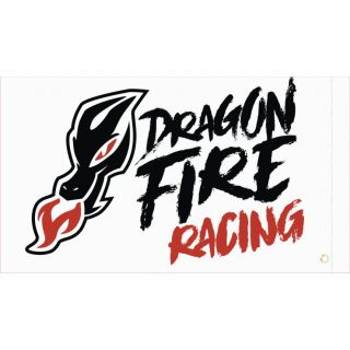 DragonFire Racing Whip Flags DragonFire White Flag, Double-sided Print