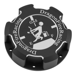 DragonFire Racing Billet Gas Caps for Polaris UTVs Black, Fuel Tank