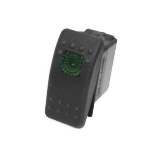 DragonFire Racing On/Off Rocker Switch On/Off Rocker Switch, Green Light