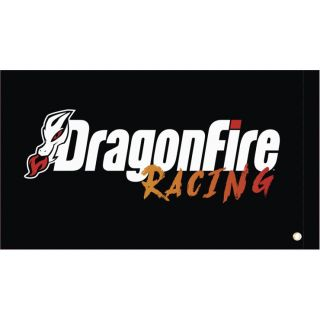 DragonFire Racing Whip Flags DragonFire Black Flag, Double-sided Print