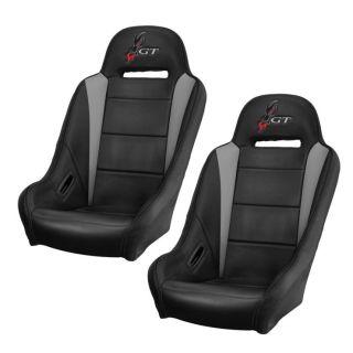 DragonFire Racing HighBack GT Seat Black/Grey, Pair