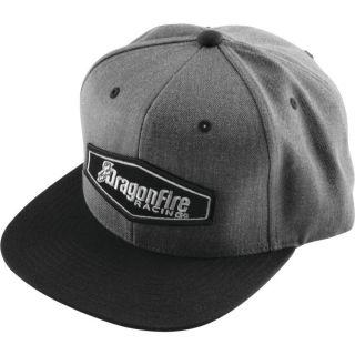 DragonFire Racing Hex Logo Snapback Hat Grey/Black