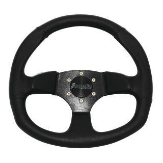 "DragonFire Racing Steering Wheels D-Shaped, Vinyl, Black, 0"" offset"