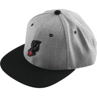 DragonFire Racing Dragon Head Snapback Hat Grey/Black