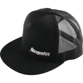 DragonFire Racing Logo Snap Snapback Hat Black