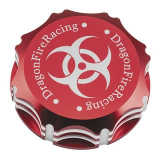 DragonFire Racing Billet Gas Caps for Polaris UTVs Red, Biohazard