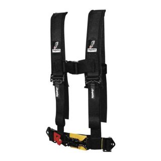 "DragonFire Racing Harness Restraints Black, H-Style, 4-Point, 2"" Youth"